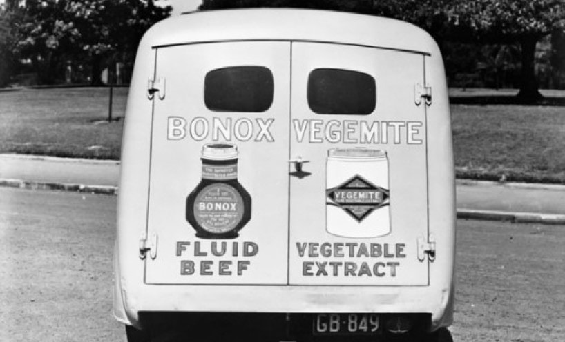 Old picture from the archives of a Bonox and Vegemite Delivery Van